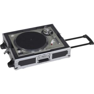 Flight case para tocadiscos con trolley y ruedas 'TTPRO-TROLLEY