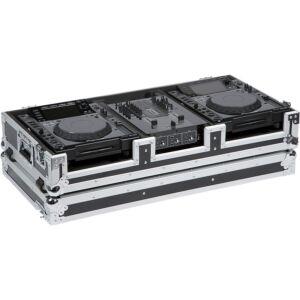 Flight case para reproductor CD 12'' y mezcladora dj 10''