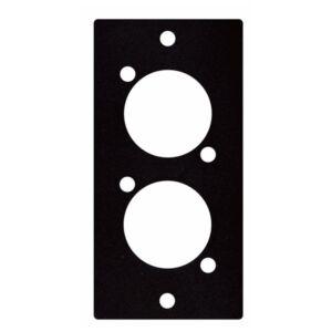 Placa para 2 XLR-Jack-Speakon
