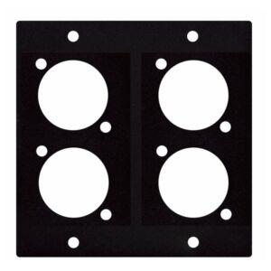 Placa para 4 XLR-Jack-Speakon