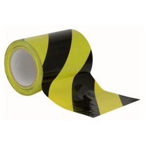Floor-Marking tape 150 mm negro y amarillo