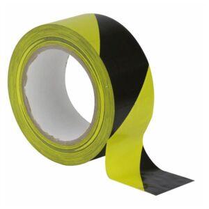Floor-Marking tape 50 mm negro-amarillo