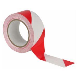 Floor-Marking tape 50 mm blanco-rojo