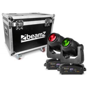 Beamz IGNITE150B cabeza móvil led Beam 2pcs en flightcase