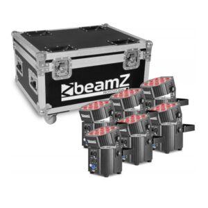 Beamz BBP60 conjunto de focos 6pcs en flightcase con cargador
