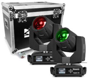 Beamz TIGER 7R HIBRIDA kit 2 piezas en flightcase