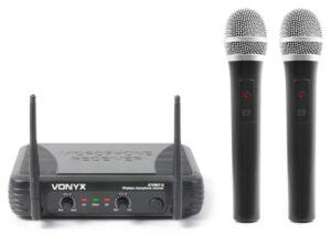 VONYX STWM712 Micro doble de Mano VHF 179.183