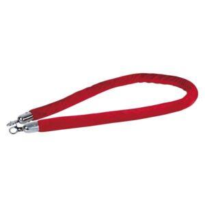Showtec cuerda catenaria roja gancho plateado