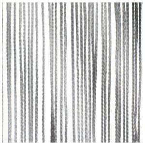Wentex Cortina de cuerda gris 6 m longitud