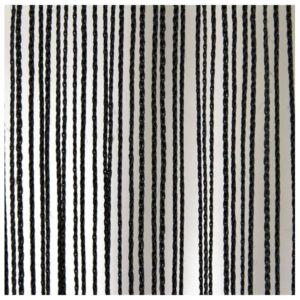 Wentex Cortina de cuerda negra 6 m longitud