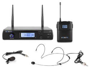 Vonyx WM61B Micro inalámbrico UHF petaca